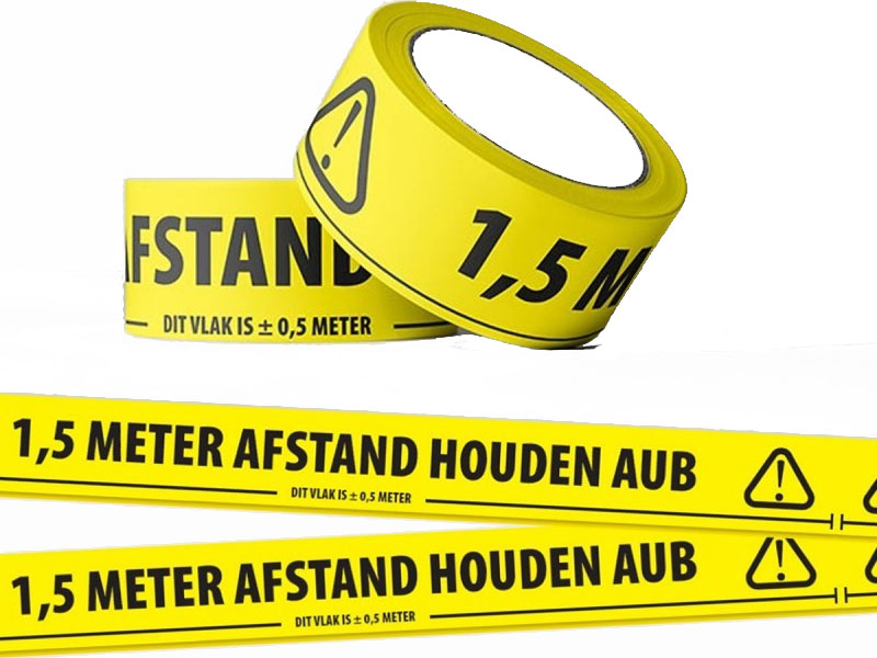 Tape - 1.5m afstand